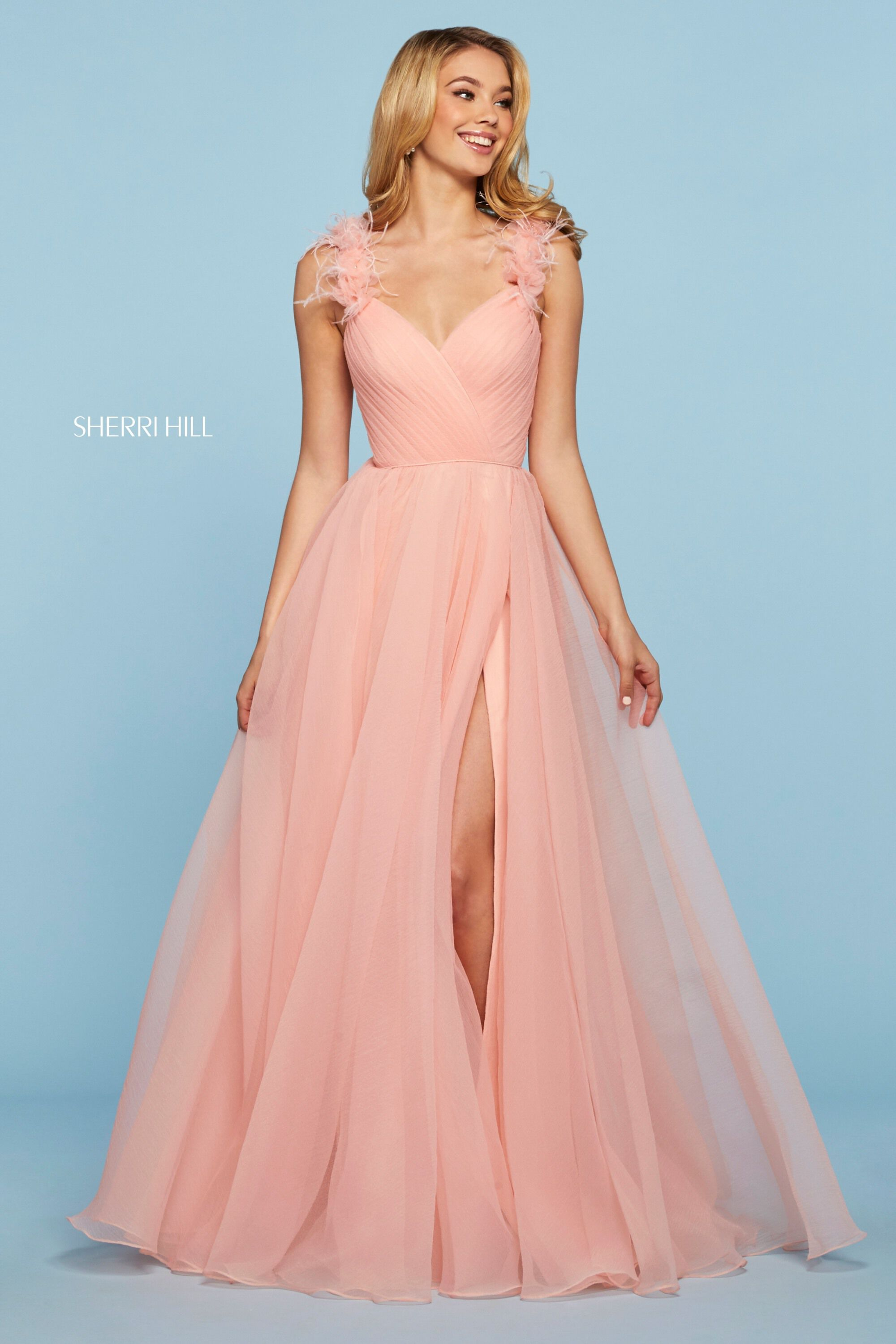 Light Pink Sherri Hill Prom Dresses